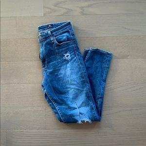 AG Adriano Goldschmied HighRise Stevie Ankle Jeans